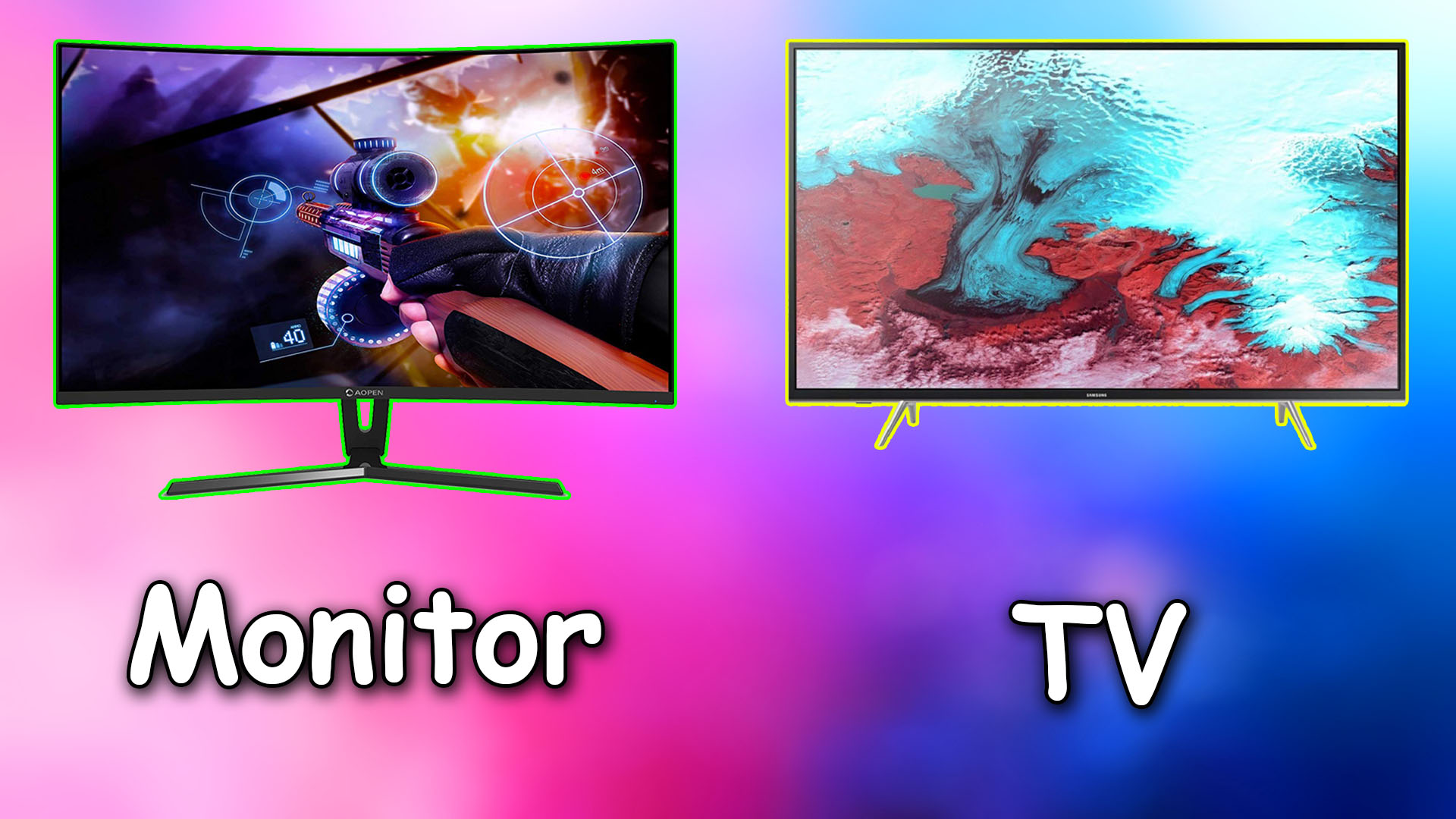 Comparison Between a TV and Monitor