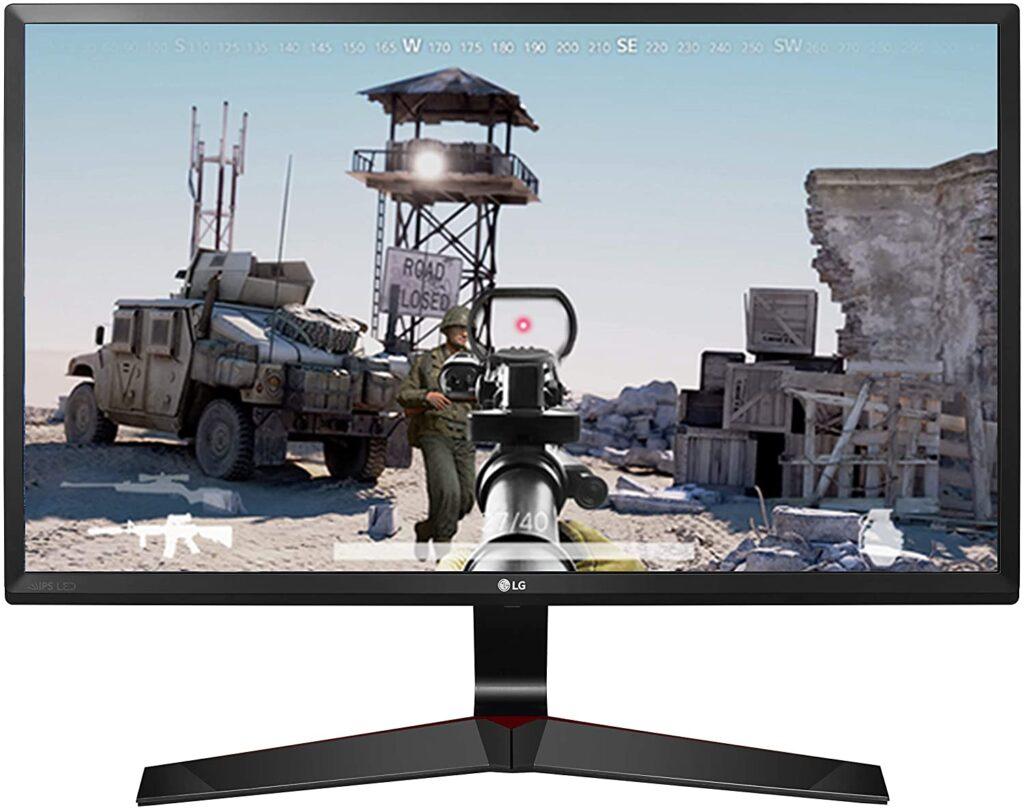 LG 60.96 cm (24 inch) Gaming Monitor - 1ms, 75Hz, AMD Freesync, Full HD, IPS Panel with VGA, HDMI, Display Port, 24MP59G